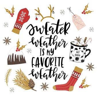 Winter- und weihnachtsgrußkarte mit beschriftung.