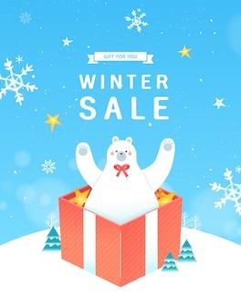 Winter- und weihnachtsverkauf, weihnachtsverkäufe oder black friday