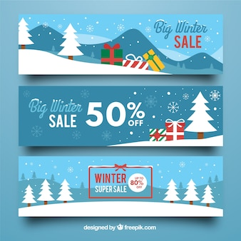 Winter-Verkauf-Banner