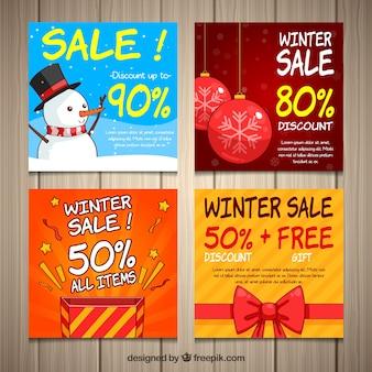 Winter-verkaufskarten