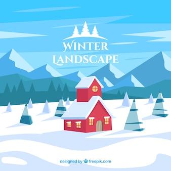 Winter verschneite Landschaft Hintergrund
