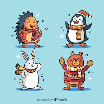Winter waldtiersammlung