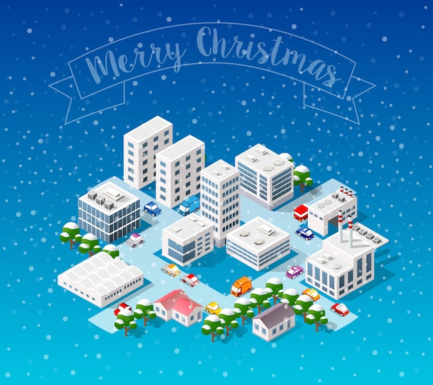 Winter weihnachten landschaft