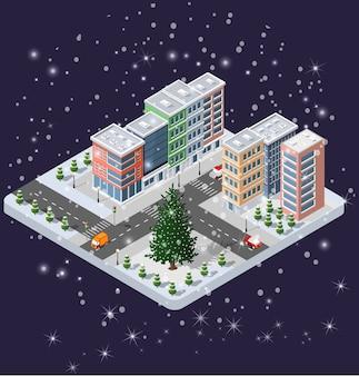 Winter weihnachten stadtviertel module