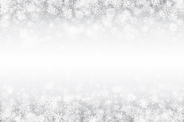 Winter-wirbelnder schnee-effekt-weiß-hintergrund