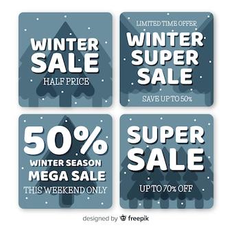 Winterausverkaufskarten