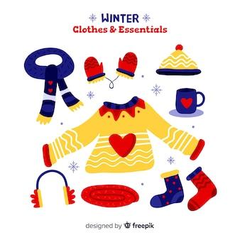 Winterbekleidung und essentials pack