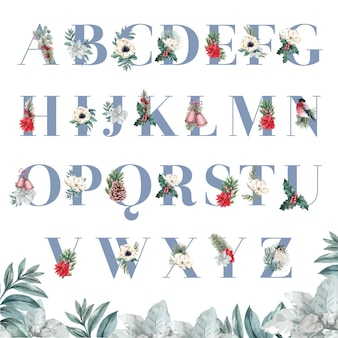 Winterblumen alphabet s