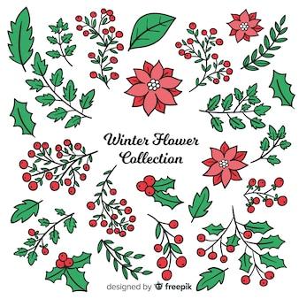 Winterblumen-sammlung