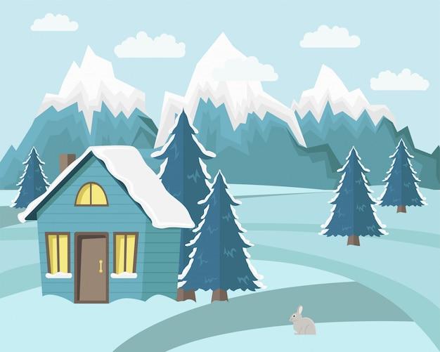 Wintergebirgslandschaft