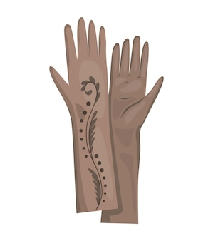 Winterhandschuhe oder lederfäustlinge für damen als handbekleidung in der winter- oder herbstsaison. vektordesignsymbole für das netz lokalisiert auf einem weißen hintergrund.