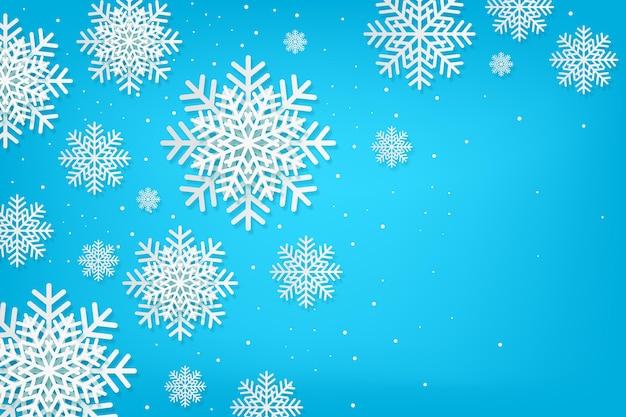 Winterhintergrund im papierstil