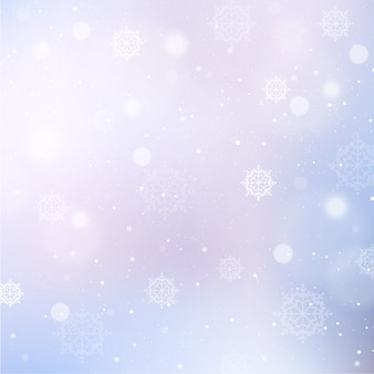 Winterhintergrund mit schneeflocken