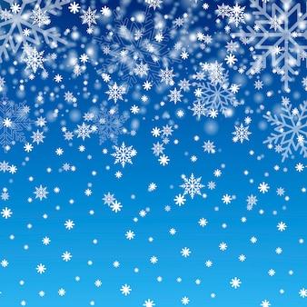 Winterhintergrund mit schneeflocken.