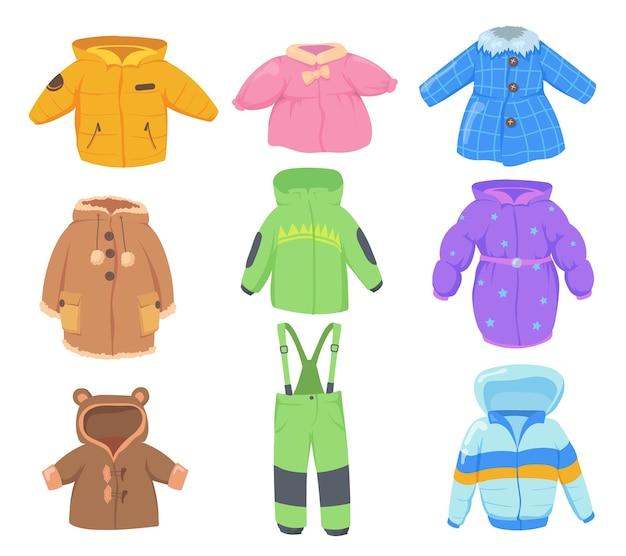 Winterkleidung für kinder eingestellt