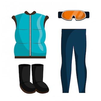 Winterkleidung, kleidung und zubehör