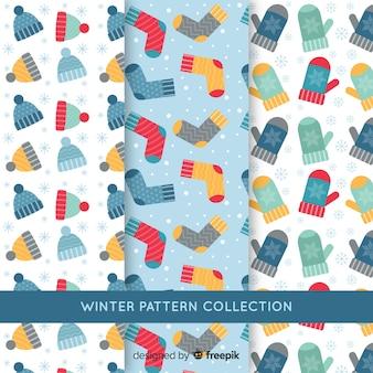 Winterkleidung muster