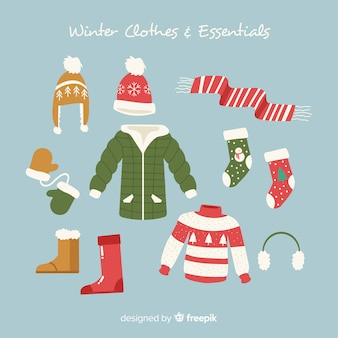 Winterkleidung und accessoires