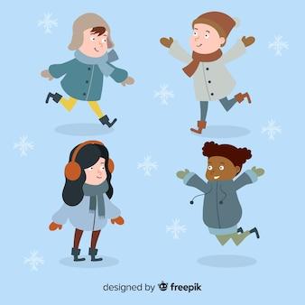 Winterkollektion für kinder spielen