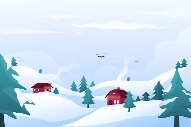 Winterkonzept im flachen design