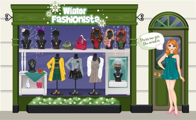 Winterladen süße puppe verkleiden