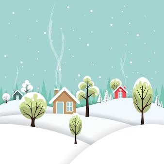 Winterlandschaft am dorf