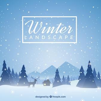 Winterlandschaft hintergrund
