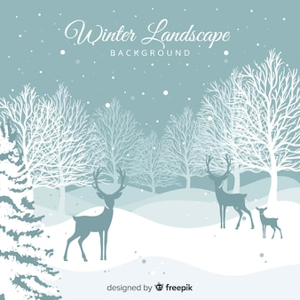 Winterlandschaftshintergrund