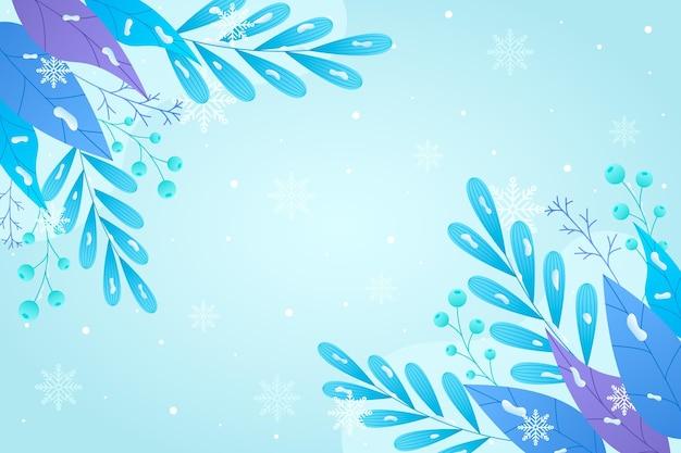 Winterpflanzentapete mit leerem raum