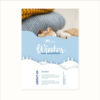 Winterplakat a4 konzept
