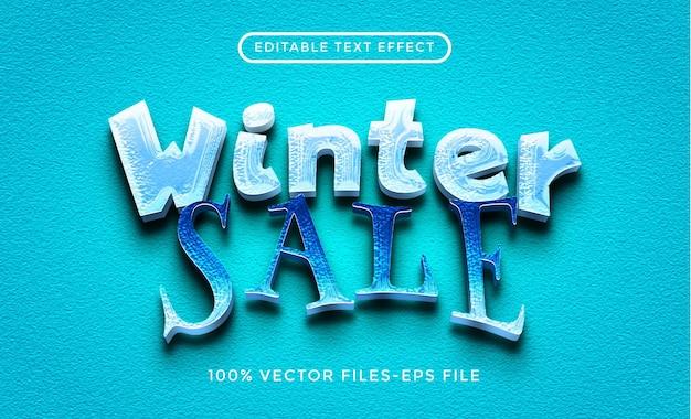 Winterschlussverkauf bearbeitbare texteffekt-premiumvektoren