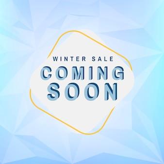 Winterschlussverkauf, der bald vektor kommt
