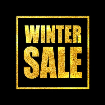 Winterschlussverkauf-designschablone, grußkarte