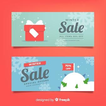 Winterschlussverkauf einfache banner
