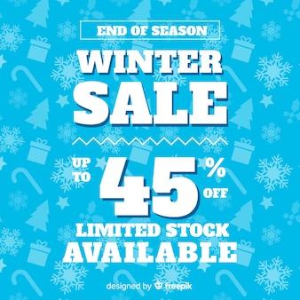Winterschlussverkauf einfacher hintergrund