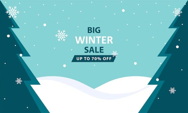 Winterschlussverkauf hintergrund