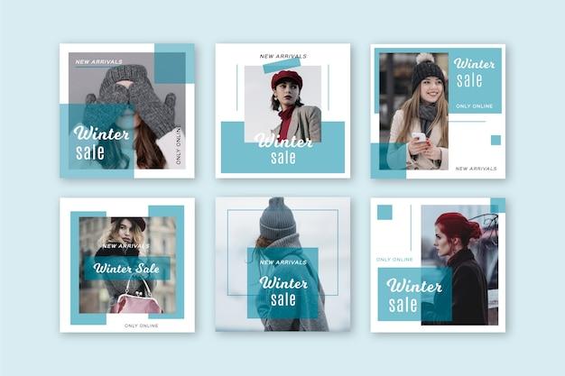 Winterschlussverkauf instagram beitragssammlung