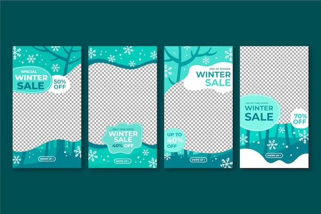 Winterschlussverkauf instagram geschichtenansammlung