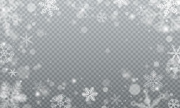 Winterschneesturmhintergrundillustration