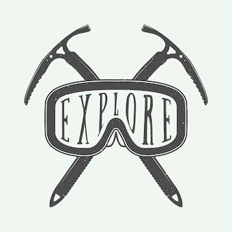 Wintersport-logo, abzeichen