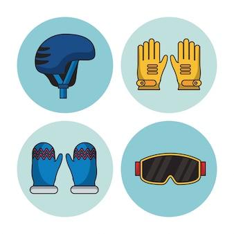 Wintersport-symbole