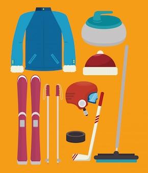 Wintersport und mode tragen