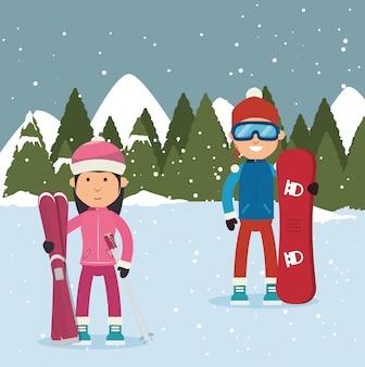Wintersportbekleidung und zubehör