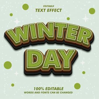 Wintertag text effekte