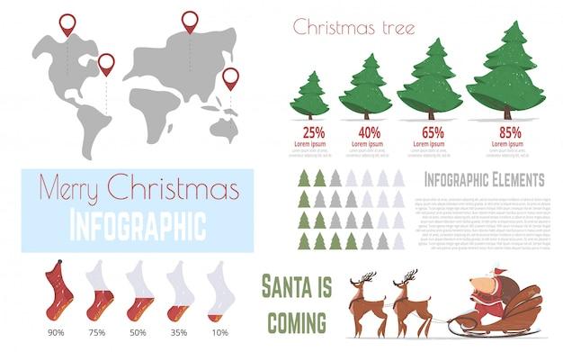 Winterurlaub feier vektor infografiken