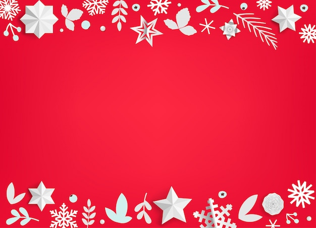Winterurlaubvektorhintergrund mit weihnachtselementen