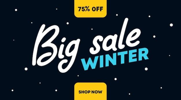 Winterverkauf flyer banner hintergrund illustration