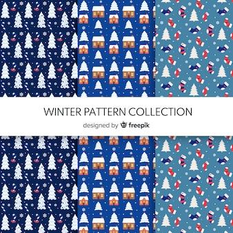 Winzige elemente winter muster kollektion