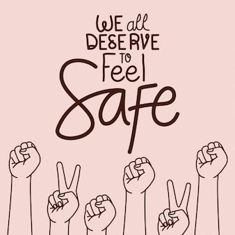 Wir alle verdienen es, uns mit waffenvektor-design sicher zu fühlen
