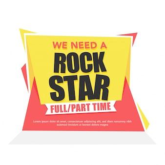 Wir brauchen ein star-text-banner vollzeit- und teilzeitkonzept.